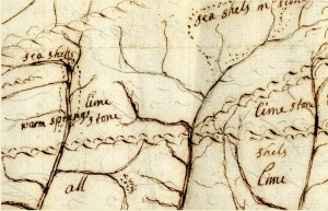 Bertram's map of the Susquehanna 1750s