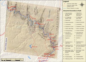 Emily Bitely '11 Map of the Upper Susquehanna.