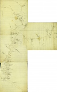 Shippen map stitched and labelled