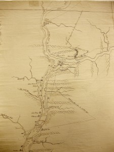 Detail of the Confluence from Joseph Shippen's map of the Susquehanna River 1756